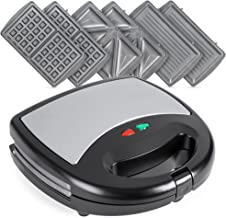 Best Choice Products 3-in-1 750W Dishwasher Safe Non-Stick Stainless Steel Electric Sandwich Waffle Panini Maker Press w/ ...