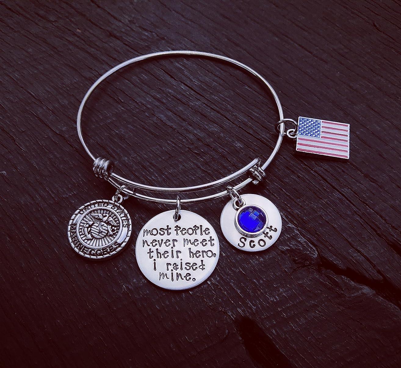 Most People Never Meet Their Hero I Raised Mine Bracelet | Military Mom | Air Force Mom | Army Mom | Coast Guard Mom | Marine Mom | Navy Mom