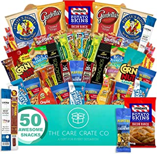 The Care Crate Man Box Ultimate Men's Snack Box Care Package ( 45+ Piece Snack Pack ) Chips Variety Pack, Cookies, Pretzel...