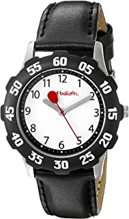 Red Balloon Kids' W000350 Tween Stainless Steel Black Bezel Black Leather Strap Watch