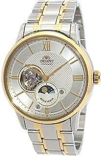 Orient - Reloj automático de oro de 2 tonos con forma de corazón abierto de Sun & Moon, AS0001S