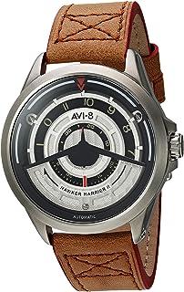 AVI-8 Men's AV-4047 'Pegasus Edition' Japanese Automatic Stainless Steel Sapphire Lens and Leather Aviator Watch