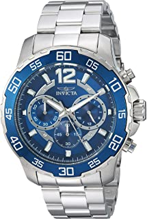 Invicta 'Pro Diver' acero inoxidable de cuarzo reloj Casual, color: plateado (modelo: 22713)