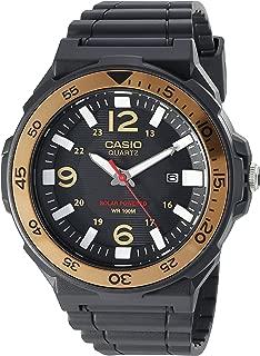 Men's 'Solar Powered' Quartz Resin Watch, Color:Black...