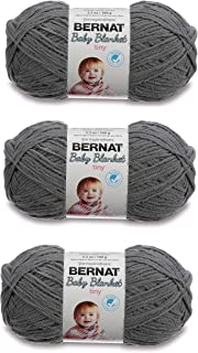 Bernat Blanket Tiny Yarn, 3.5 Oz, Gauge 4 Medium Elephant 3-Pack