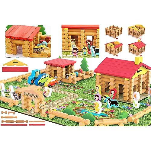 Toys of Wood Oxford Shinnington Farm - Granja de Juguete de construcciones de Madera con Animales
