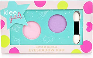 Klee Girls All Natural Mineral Makeup Eyeshadow Duo - Sugar Hill Bloom, Sierra Amble (Purple, Pink) (Perfect for kids and teens)