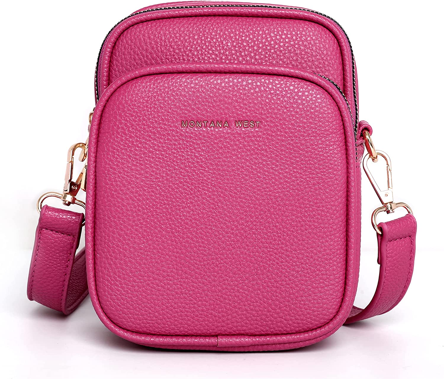 Montana West Small Crossbody Bags for Women Leather Multi Pockets Cell Phone Purse Casual Handbags