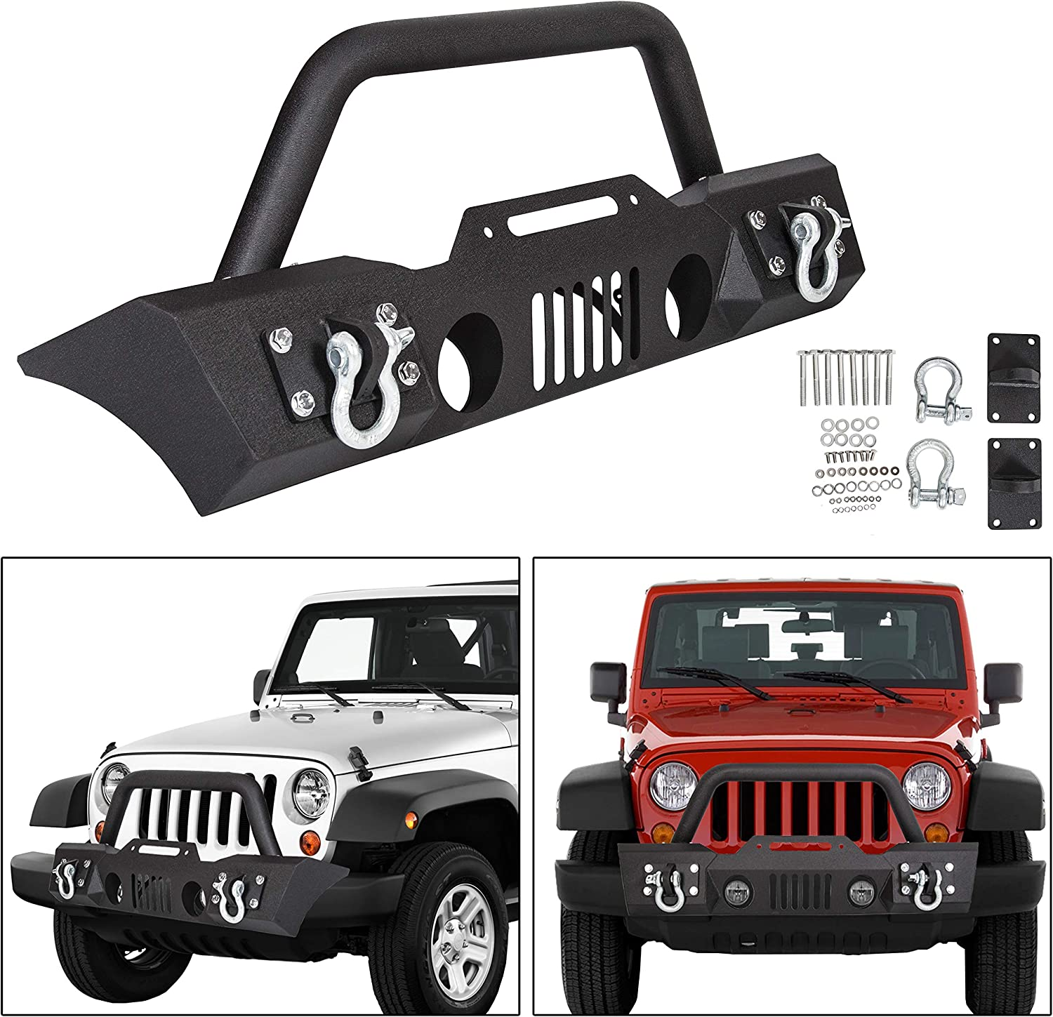 ECOTRIC Stubby Front Bumper 正規品スーパーSALE×店内全品キャンペーン With 2007-2018 Fog 10%OFF for Housing Light