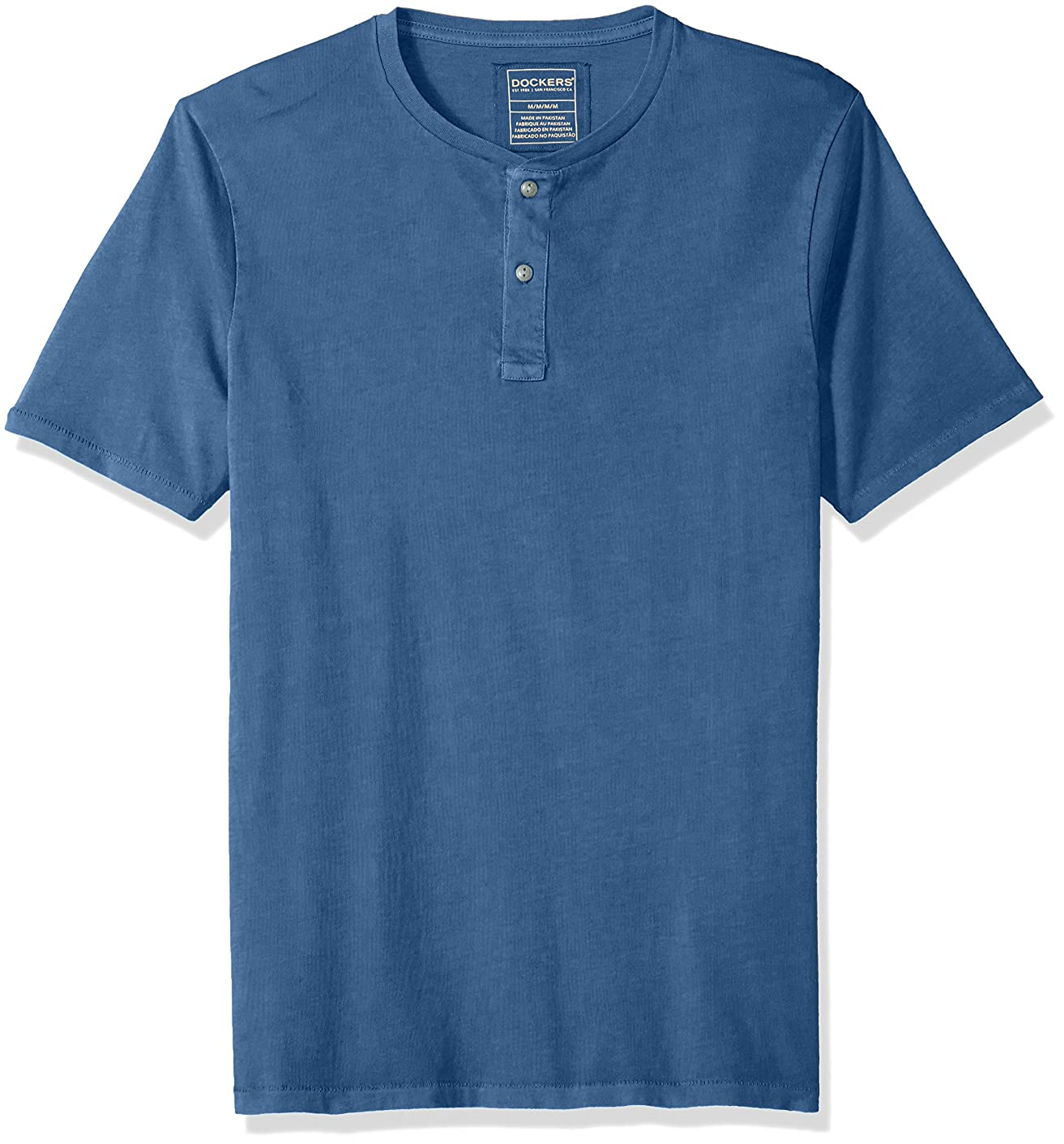 Dockers Men's Short Sleeve Garment Dye Henley Shirt
