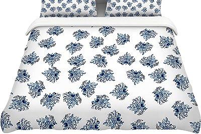 104 x 88 104 x 88 Kess InHouse Nika Martinez Princess BW King Cotton Duvet Cover