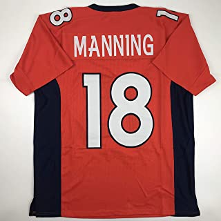 Unsigned Peyton Manning Denver Orange Custom Stitched Football Jersey Size XL New No Brands/Logos