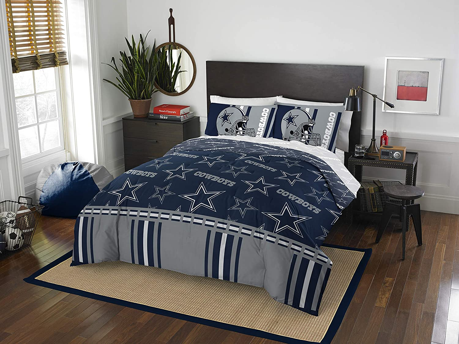 Officially Licensed Oakland Mall NFL Dallas Cowboys Full 78 a Set Bed in famous Bag