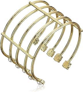 Steve Madden Open Work Multi-Layer Pearl Bracelet