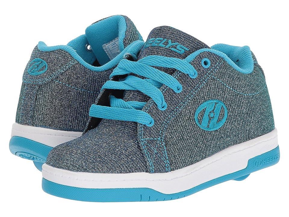 Heelys Split (Little Kid/Big Kid/Adult) (Pewter/Blue Colorshift) Kids Shoes