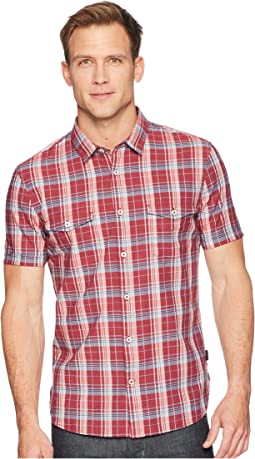 John Varvatos Star U.S.A. - Short Sleeve Shirt with Chest Pockets W519U1B