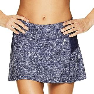 HEAD Women's Athletic Tennis Skort - Performance Training & Running Skirt Pink/Green