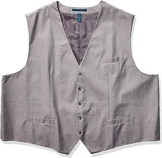 Men's Big and Tall Slim Fit Stretch Herringbone Suit Vest