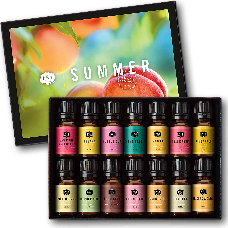 Summer Set of 14 Premium Topics on TV Fragrance - Grade 10ml Oils Fort Worth Mall