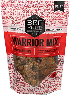 BeeFree Warrior Mix Gluten Free Granola | Grain Free, Keto Friendly, Paleo Granola Mix | Dairy Free, Preservative Free, Oa...