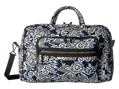 Vera Bradley Iconic Compact Weekender Travel Bag (Snow Lotus) Weekender/Overnight Luggage