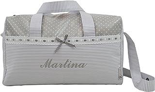 BOLSO MATERNAL PLASTIFICADO tipo maleta BORDADO CON EL