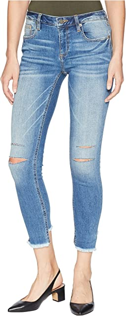 Five-Pocket Ankle Skinny Jeans in Medium Blue