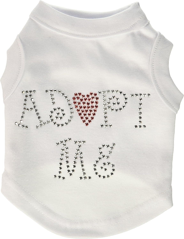 Dog   Cat   Pet Charms Adopt Me Rhinestone Shirt White XS (8)