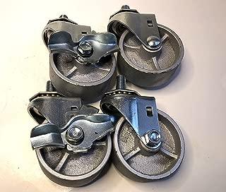 Lazzar's Floor Jack - Transmission Jack Casters, Set of 4 (2 Locking and 2 Non-Locking)