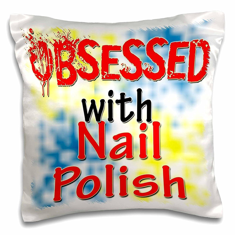 注文完璧な脆い3droseブロンドDesigns Obsessed with?–?Obsessed with Nail Polish?–?枕ケース 16