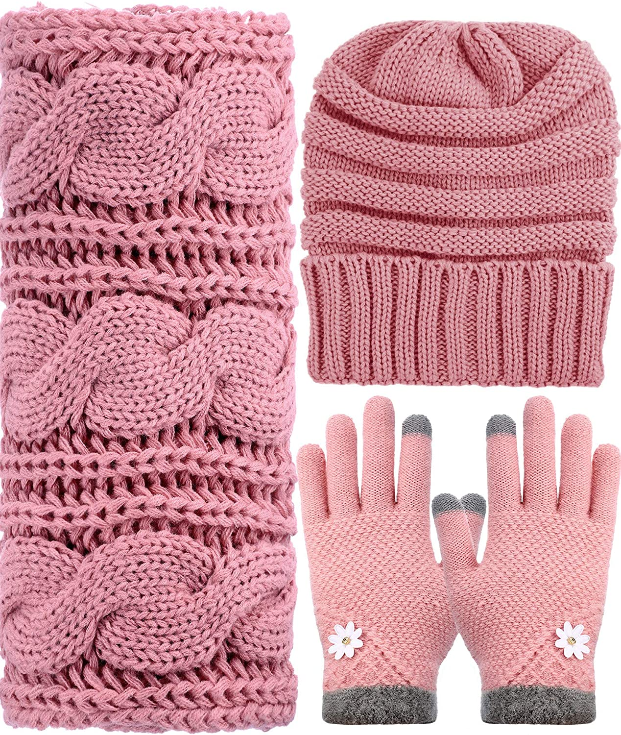 Winter Warm Max 59% OFF Knit Set - Beanie and Hat Glo Max 47% OFF Stretch Knitted Scarf