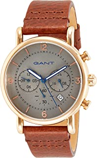 Gant Springfield Men's Grey Dial Leather Band Watch - G Gww007004, Analog Display