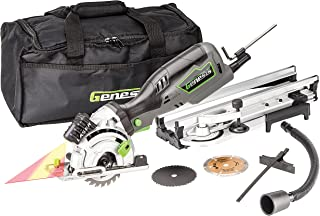 """Genesis GPCS535CK 5.8 Amp, 3-1/2"""" Control Grip Plunge Compact Circular Saw Kit with Laser, Miter Base, 3 Assorted Blades, Vacuum Adapter Hose, Rip Guide & Carrying Bag"""