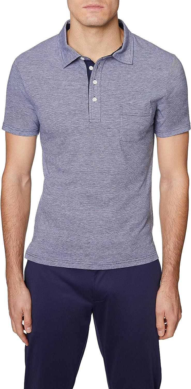 Hickey Freeman Men's Regular Fit Short Po Sleeve 2021 Rare Cotton 4 Button
