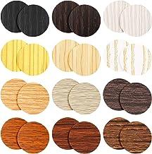 648 Stuks Schroef Gat Covers Stickers Caps Zelfklevende Schroef Gat Stickers 12 Vellen Houtnerf Stickers 12 Kleuren Waterd...