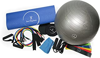 Home Gym Total Body Strength Resistance Exercise Training 7 Piece Fitness Kit