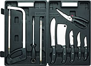 Maxam Game Processing Set, for Field Dressing Deer and Other Game, Fully Portable in a Durable Case, 13 Piece