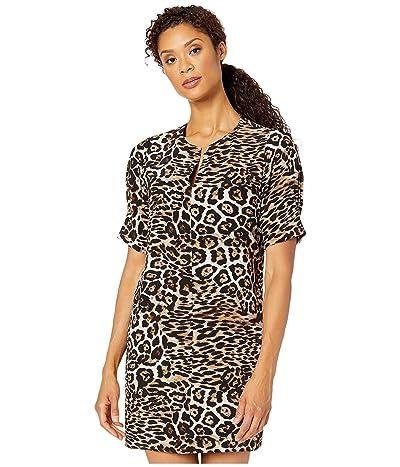 Karen Kane Leopard Print Shift Dress (Leopard) Women