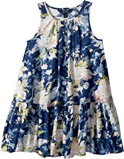 Polo Ralph Lauren Kids - Floral Cotton Jersey Dress (Little Kids)