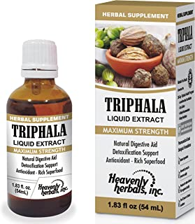 Balancing Formula to Detoxify & Rejuvenate with Triphala Drops | Natural Internal Cleansing Herb Maintains Regularity and Supports Healthy Digestion & Absorption - 1.83Fl. Oz