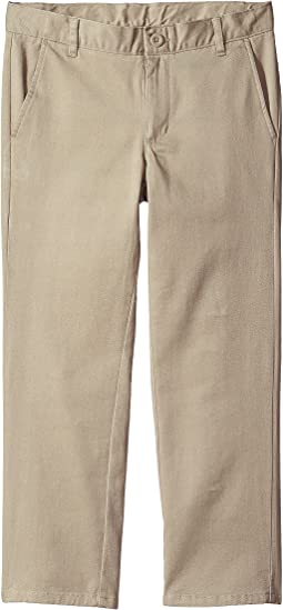 Nautica Kids Husky Flat Front Twill Stretch Pants (Big Kids)