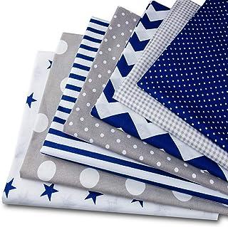 Tessuto Cotone Stoffa Patchwork Tessuti a metraggio 7 Pezzi 50 x 80 cm - Scampoli Stoffe per Cucito Creativo al Metro, per...