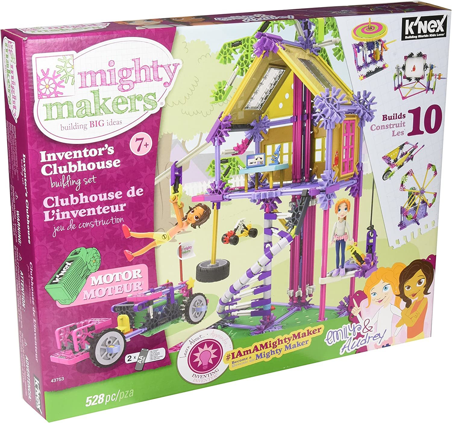 Mighty Makers 43753 Inventors Clubhouse Building Set Girl's Construction