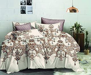 Flower Comforter 4Pcs Set Double 220x240cm, AI1213D, Beige