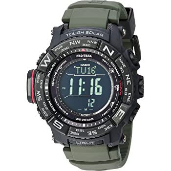 Casio Men's Pro Trek Stainless Steel Quartz Watch with Resin Strap, Black, 20.2 (Model: PRW-3510Y-8CR)