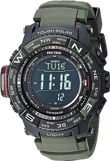 Men's Pro Trek Stainless Steel Quartz Watch with Resin Strap, Black, 20.2 (Model: PRW-3510Y-8CR)