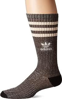 Men's Roller Crew Sock (1-Pair), Natural Yarn/Black/White, Large, (Shoe Size 6-12)