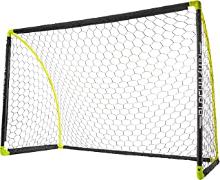 Franklin Sports Portable Soccer Goal - Kids Backyard Soccer Net - 6 x 4 Foot - All-Weather, Durable, Easy Storage - Blackh...