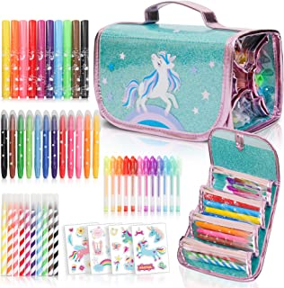 Fruit Scented Markers Set with Unicorn Pencil Case PLUS Augmented Reality Experience - STEM Toys Perfect Unicorn Gifts For...