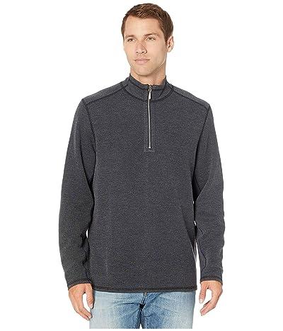 Tommy Bahama Double in Paradise Reversible 1/2 Zip Sweater (Black) Men
